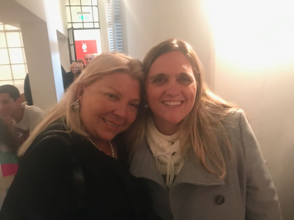 Junto a Lilita en el Instituto Arendt