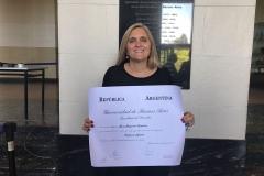 Entrega de diploma - Adjunta regular en UBA